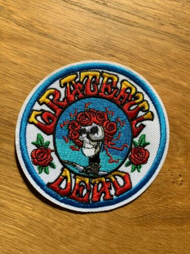 Grateful Dead Bertha Roses Deadhead Premium Embroidered Patch 3.5in Jerry García