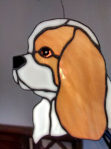 STAINED GLASS DOG -CAVALIER KING CHARLES SPANIEL - BLEIMIEN