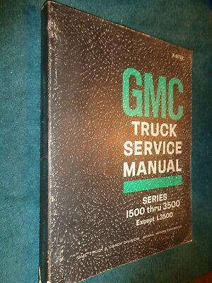 1967 GMC SHOP MANUAL / SERVICE BOOK / ORIGINAL PICKUP SUBURBAN PANEL TRUCK++