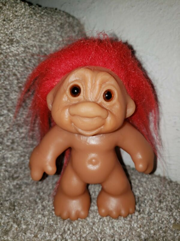 Vintage Thomas Dam Troll Playmate red hair