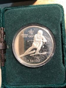1988 Calgary Winter Games silver coin