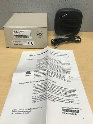 Motorola Mobile Radio External Speaker Hsn4024c For The Mcs2000 Radio New