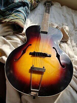 The Loar LH-300-VS Archtop Acoustic Guitar Vintage Sunburst Finish