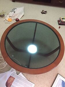 Round glass coffee table Durack Brisbane South West Preview