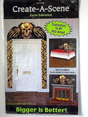 Halloween Decoration Create A Scene Skulls Eerie Spooky Door Entrance 60