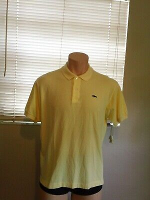 Lacoste Classic Fit Men's Yellow Polo - Size XL/  6