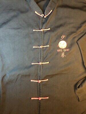 wushu uniform Top Black And Red L/xl