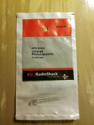 New Radioshack Phototransistor Fototransistor 30v T-1-34 Case 276-0145 2760145