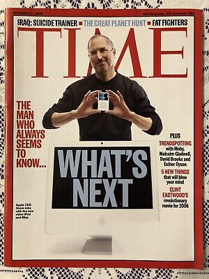 "TIME Magazine October 24, 2005 -  ""What's Next?"" Steve Jobs Cover Apple iPod"