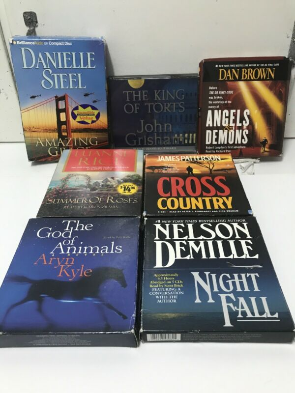 Junk Drawer Lot Of 7 Audiobooks, Danielle Steel, Grisham