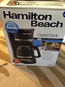 Brand new hamilton beach 42874 programmable coffee maker NEW