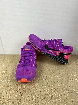 Nike Lunarglide 7 Womens Size 8 Running Shoes Purple/Black