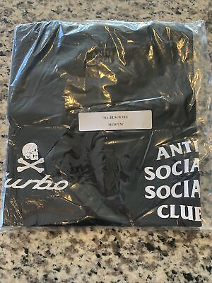Anti Social Social Club x Neighborhood Black 911 Turbo T-shirt Tee - Medium