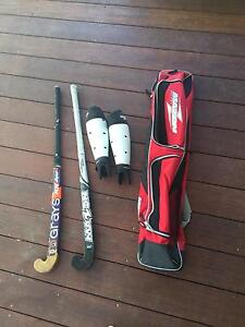 hockey set comes with two hockey sticks bag and shin guards Craigie Joondalup Area Preview