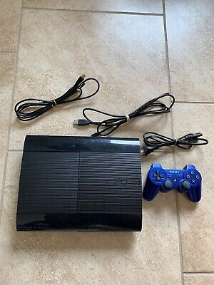 Sony Playstation 3 4001B Super Slim 250 GB Console System Tested And Works PS3