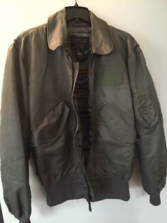 Mens US Fighter Weapons Flight Jacket Scarborough Stirling Area Preview