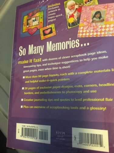 New Sealed Better Homes And Gardens Fast Scrapbooking Book Memories  - $10.00