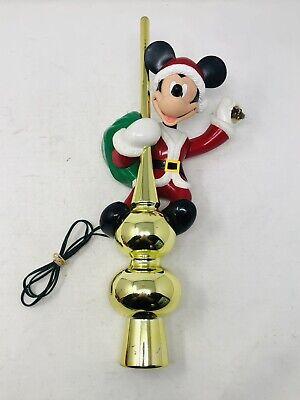 Vintage Mr. Christmas Mickey Mouse Animated Lighted Tree TopperDisney (READ)