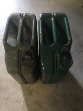 2 x 20L fuel steel Jerry cans Thirlmere Wollondilly Area Preview