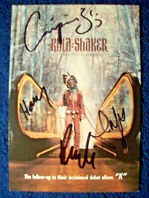 KULA SHAKER Autographed Concert Ad By 4 RARE - $9.99
