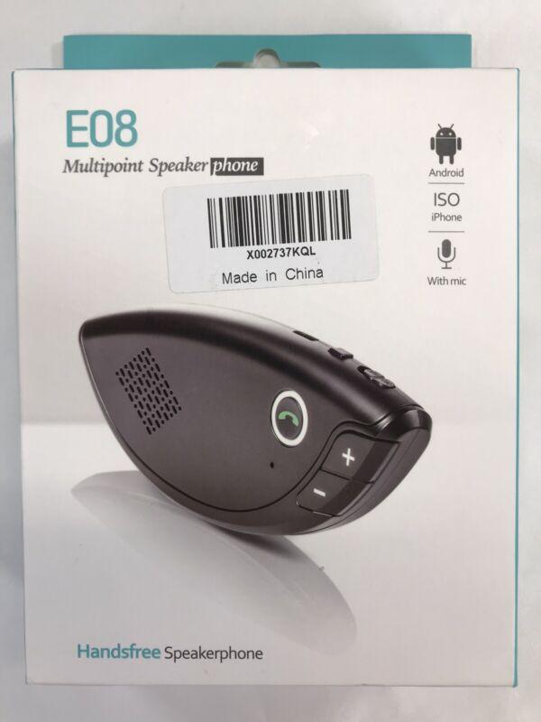 E08 Bluetooth Multipoint Speaker for Cell Phone Handsfree Car Kit Speakerphone