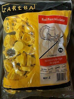 Zareba Electric Fence Insulator Round Rod 25 Per Pack