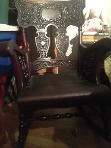 Antique rocking chair and vanity