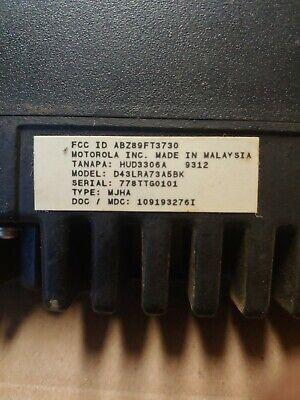 Motorola Radius Vhf 45 Watt Two Way Radio With Mic D43lra73a5bk 4651