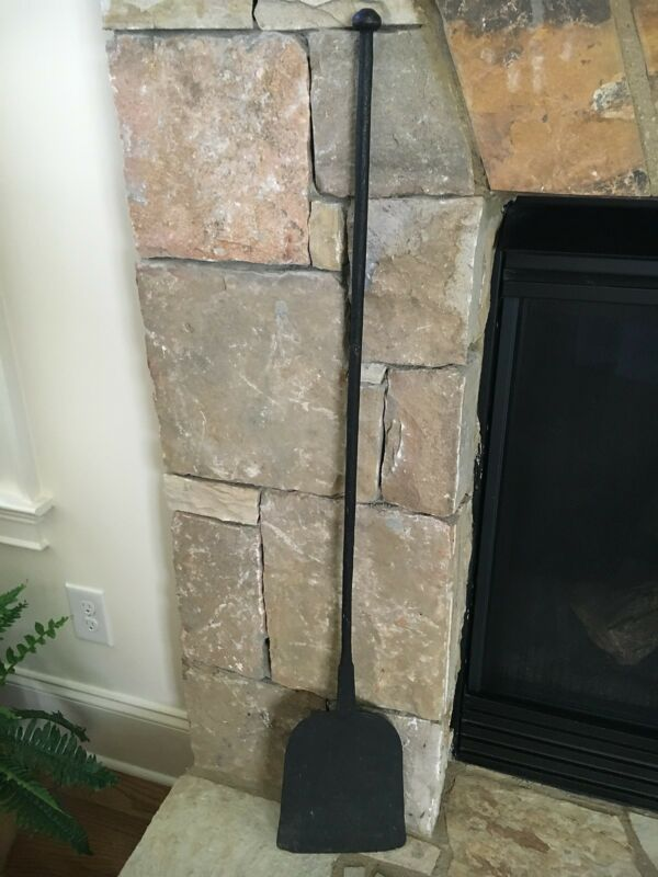 Early Wrought Iron Bread Paddle Peel Fireplace Hearth Cooking Utensil 42.5""