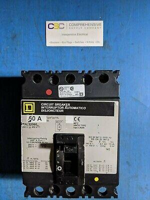 Fal32060 - Square D 60a Amp 3p Pole 240v Circuit Breaker-used-gray