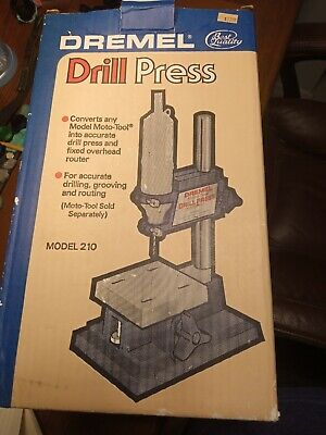 Dremel Model 210 Drill Press Table Nos Never Used Only Opened To Take Pictures