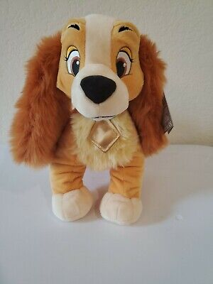 """Disney LADY Plush- Lady and The Tramp Medium 14"""" Doll Toy New With Tags"""