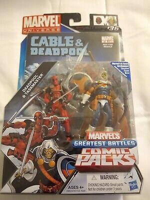 """Marvel Universe - 3.75""""Figures Comic 2Pack Deadpool & Taskmaster New 2010"""