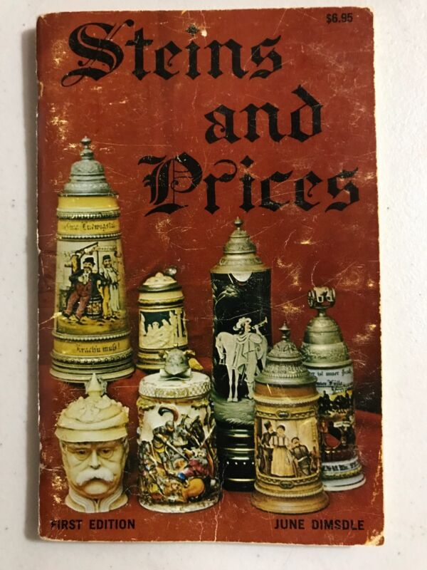 Scarce 1970 Steins And Price Guide First Edition June Dimsdle