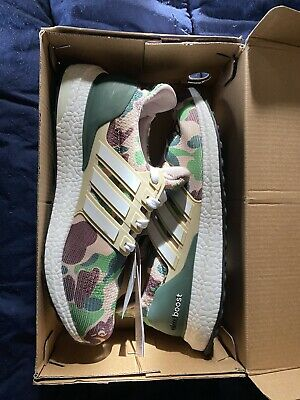 Adidas Ultra Boost 4.0 A Bathing Ape Bape Camo Black Size 7 w/ OG Box