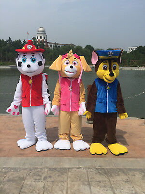 HIGH QUALITY PAW PATROL MASCOT COSTUME PARTY FANCY DRESS ADULT SIZE FREE - Costumes High Quality