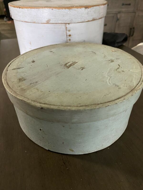 Antique Primitive Light Blue Pantry Box Aafa