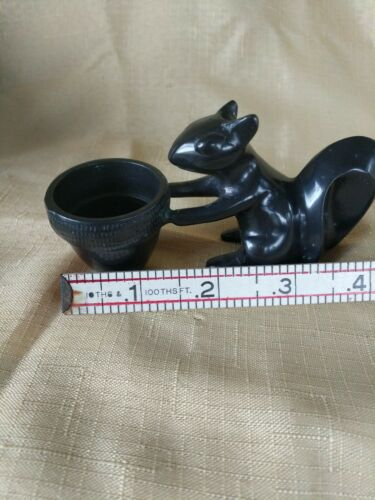 BRONZE SQUIRREL SCULPTURE WITH ACORN HOLDER BY POTTERY BARN - $21.00