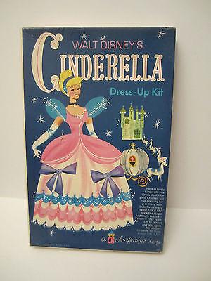 VERY Rare HTF Vintage Disney Cinderella Dress-Up Kit w/Bklt 280