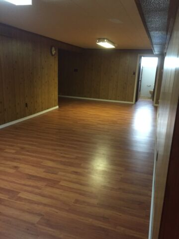Basement 1 bedroom 1 den very large living room own cooking area