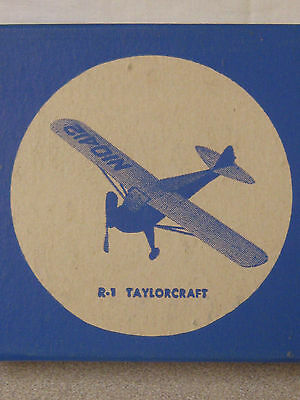 Vintage Balsa Wood Airplane Kit NIB Megow's Taylorcraft Rubber Powered