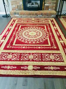 "9""5'X 6""6' beautiful red thick Turkish rug"