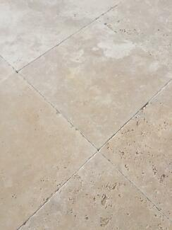 Classic Travertine Tumbled Tiles 610x406x12mm & 406x406x12mm Seven Hills Blacktown Area Preview