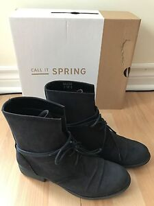 Spring Scerbo Ankle Boot 6 Navy