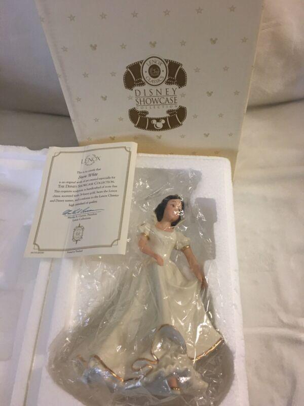 Lenox Disney Showcase Collection SNOW WHITE Princess in Original Box & COA!
