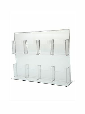 Eight Pocket Vertical Business Card Holder Great For Trade Shows