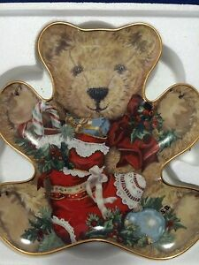 Franklin Mint Teddy's Christmas Stocking Plate Wellington Point Redland Area Preview