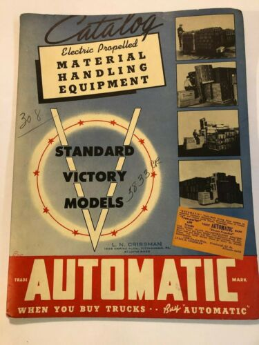 Automatic Transportation Co Electric Material Handling Equipment Bound Brochures