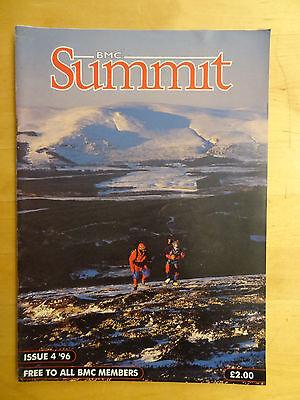 BMC SUMMIT MAGAZINE ISSUE 4 1996 CLIMBING MAG BACK ISSUE MOUNTAIN CLIMB