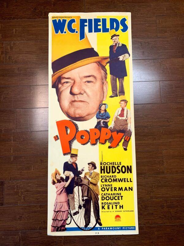 Poppy - W.C. Fields (1936) US Insert Movie Poster - Very Rare!